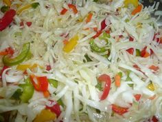 Add sugar, salt, steel and oil. Add sugar, salt, steel and oil. Vegetables let go of juice and so no infusion is needed …. Zesty Italian Chicken, Italian Chicken Dishes, Salad Recipes, Diet Recipes, Cooking Recipes, Healthy Recipes, Fermented Cabbage, Eat Smart, Easy Dinner Recipes
