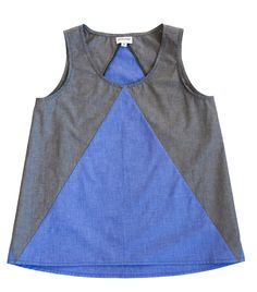 Compass top made up in the softest, silkiest cotton chambray by HOUND