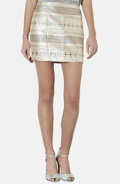 Topshop Metallic Jacquard Miniskirt available at #Nordstrom
