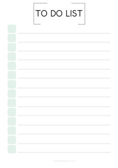 list to do planner To Do Planner, Daily Planner Pages, Study Planner, Weekly Planner, College Planner, Daily Planners, College Tips, To Do Checklist, Checklist Template