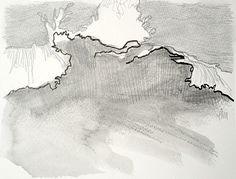 Crashing waves, drawing by Tina Mammoser Ocean Drawing, Wave Drawing, Crashing Waves, Sea Waves, Sea And Ocean, Large Painting, Art Drawings, Original Art, Sketches
