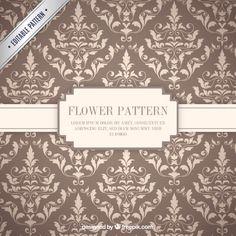 Teste padrão de flores ornamentais Vetor grátis