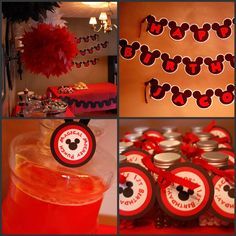 simply captivating events - the paper blossom shop: Mickey Mouse Birthday Party