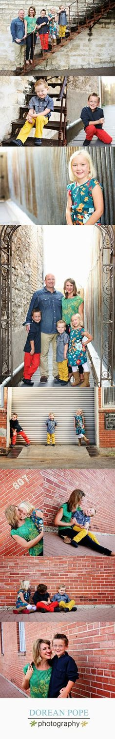 Bright Colors - Urban Family Portraits - Georgetown Portrait Photographer