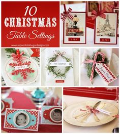 Christmas Place Card Ideas | A Spoonful of Sugar