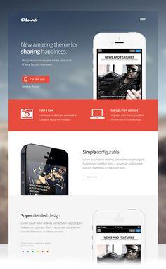 Bluap - Responsive mobile app Joomla template