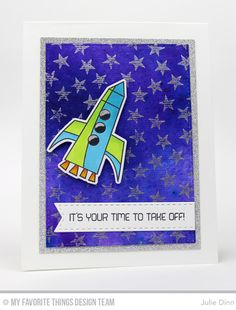 Out of This World, Starry Night Background Builder, Inside & Out Stitched Rectangle STAX Die-namics, Out of This World Die-namics, Stitched Fishtail Flag STAX Die-namics - Julie Dinn  #mftstamps