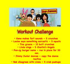 Bob's Burgers Workout Challenge