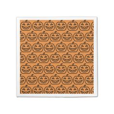 #Happy Halloween Party - Pumpkin Napkins - #halloween #party #stuff #allhalloween All Hallows' Eve All Saints' Eve #Kids & #Adaults