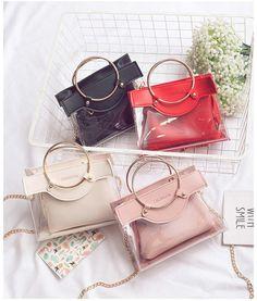 4474b651763c  women s fashion bag New Fashion Women Designer Handbags Ring Girls Chain Luxury  Handbag Shoulder Bags