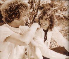 Chris Hillman & Gram Parsons (Flying Burrito Brothers) circa 1969.