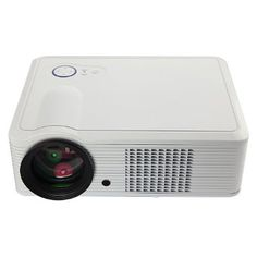 White HD 1080P Home Theatre LED Projector 30000Hours 800*600 2000Lumens HDMI TV SD White