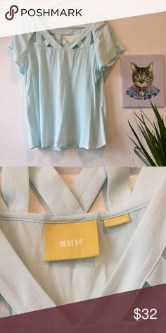 Ready to sell sea shells by the sea shore? RePosh (sadly). I ❤️ this top but it's too big for me. Worn only a couple of times. The cutouts are clutch. In perfect condition. Anthro brand: Maeve. Anthropologie Tops Blouses