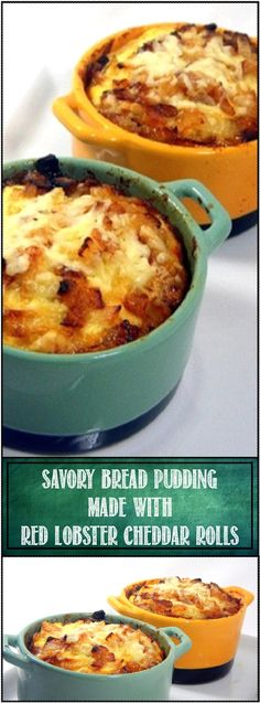 Savory Bread Pudding-Red Lobster Copy Cat Garlic Biscuits... A seriously fantastic little side dish or a surprising lunch. The copy cat recipe for the Red Lobster biscuits is included in the post, Good enough on their own, but wait til you make this cheesy milky creamy BREAD PUDDING! fantastic