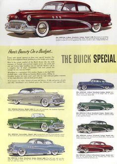 A vintage 1948 Buick Roadmaster! Auto Retro, Retro Cars, Cadillac, Buick Roadmaster, Buick Cars, Car Brochure, Buick Riviera, Car Posters, Car Advertising