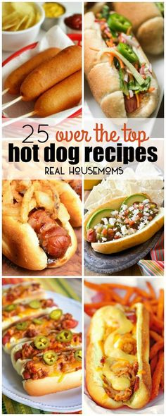 Whether you grill 'em, boil 'em, or fry 'em, hot dogs are a family-friendly meal that is a staple in American homes. These 25 OVER THE TOP HOT DOG RECIPES will take your love of hot dogs to a whole new level!