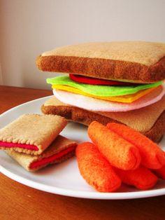 Felt Food Sandwich Eco Friendly Pretend Play by feltplayground, $23.00