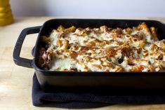 Old School Lazy Baked Ziti from Smitten Kitchen                                                                                                                                                                                 More