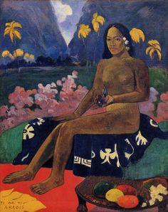 Te Aa No Areois  :: Поль Гоген,  ( Paul Gauguin ). 1892.х.м. Музей современного искусства , США.