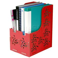 Aliexpress.com : Buy New arrival fashion design MDF magazine file document tray holder 2 stack office organizer Christmas New Year gift free...