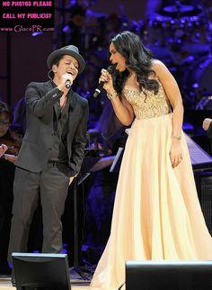Bruno Mars and Jennifer Hudson by GlacePR, via Flickr