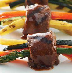 Don't these Hoisin Steak Rolls look fabulous? Serve them as an appetizer or as a main dish with steamed rice.