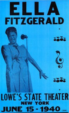 The Town Post® American Poster Art Archives. Ella Fitzgerald Live, 1940.