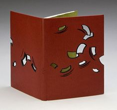 La Couleur du Vent bound by Monique Lallier // laser-cut fine binding