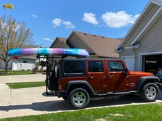 Great looking Jeep and Kayak for a customer's wife Kayaking, Jeep, Vehicles, Car, Automobile, Rolling Stock, Jeeps, Vehicle, Cars