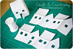 Dagens pyssel, filthus – Craft of the Day, felt houses | Craft & Creativity