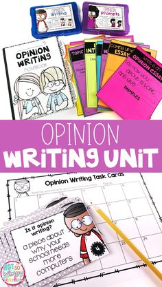 This opinion writing unit includes everything you need to teach opinion or persuasive writing: lesson plans, mentor text passages, anchor charts, task cards, rubrics and more! We can do your homework for you. Fourth Grade Writing, Kindergarten Writing, Teaching Writing, Student Teaching, Writing Activities, Teaching Ideas, Literacy, Writing Resources, Writing Ideas