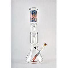 Colorful Straight Tube Glass Hookah 8 Arms Tree Percolator Bong