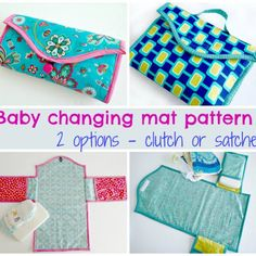 Sewing Ideas For Baby Baby changing mat. Several different styles and options in the same pattern. How to sew a baby changing mat. Two different options from the same pattern. Satchel-style or clutch-style mat with pockets. Sewing Patterns Free, Free Sewing, Baby Patterns, Sewing Tutorials, Free Pattern, Sewing Ideas, Sewing To Sell, Sewing For Kids, Baby Changing Mat