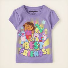 baby girl - graphic tees - Dora best friends graphic tee | Children's Clothing | Kids Clothes | The Children's Place