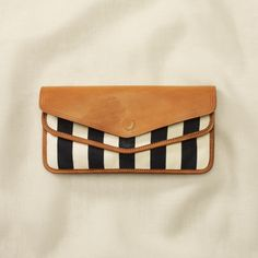 stripes on raw leather...