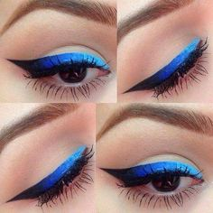 10 Ombre Eyeliner Designs für hübsche Mädchen - Makeup Tips For Older Women Eyeliner Designs, Eye Makeup Designs, Pretty Makeup, Love Makeup, Gorgeous Makeup, Makeup Goals, Makeup Tips, Makeup Ideas, Makeup Geek