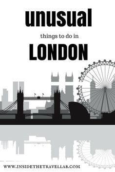 Of all the unusual things to do in London, here are nine of the best. From shops, to museums, to the great outdoors. Yes, they exist in London...