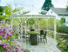 Gardenplaza - Nostalgische Metall-Pavillons laden zum Verweilen ein - Edle Schmuckstücke für den Garten