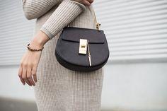 Chloé Drew Mini Chain Bag  Chloé Bag http://rstyle.me/n/bfh7wzv7iw  Michael Kors Bracelet http://rstyle.me/n/baitk5v7iw  #ootd #style #minimalist #minimalmood #michaelkors #bracelet #chloe #chloegirls #bag #black #mango