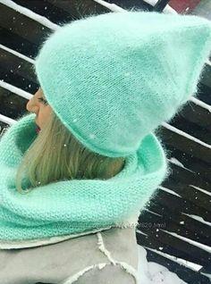 Новинка стильные комплекты с хомутом. Вязание - Kidstaff | №21542933 Mens Hat Knitting Pattern, Knitting Patterns, Knit Beanie Hat, Crochet Accessories, Hats For Men, Knitted Hats, Knitwear, Knit Crochet, Winter Hats