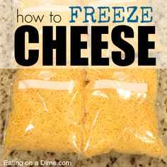 Can you freeze cheese? You can easily freeze cheese with these simple steps. Plus freezing cheese can help you save money – cookingtrends. Freezing Vegetables, Frozen Vegetables, Freezer Cooking, Cooking Tips, Freezer Recipes, Freezer Hacks, Freezing Cheese, Freezing Fruit, Canning Recipes