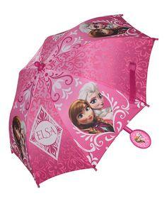 Look what I found on #zulily! Frozen Anna & Elsa Pink Umbrella #zulilyfinds