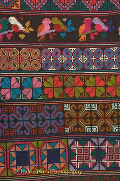 Mien embroidery in Chiang Rai, Thailand. Hale-WorldPhotography.