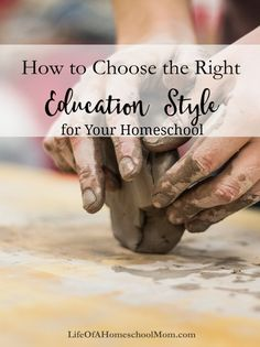 How to Choose the Right Education Style for Your Homeschool – Life of a Homeschool Mom How To Start Homeschooling, Home Schooling, Homeschool Curriculum, Kids Learning, Higher Learning, Montessori, 3d Printing, Education, Life