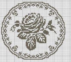 Love this pattern Cross Stitch Borders, Cross Stitch Rose, Cross Stitch Flowers, Cross Stitch Charts, Cross Stitching, Cross Stitch Embroidery, Cross Stitch Patterns, Filet Crochet Charts, Crochet Doily Patterns