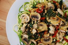 Zucchini Pasta Florentine   #justeatrealfood #askgeorgie
