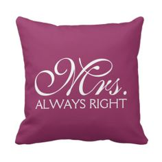 >>>Coupon Code          	Mrs. Right Throw Pillow           	Mrs. Right Throw Pillow today price drop and special promotion. Get The best buyHow to          	Mrs. Right Throw Pillow Review on the This website by click the button below...Cleck Hot Deals >>> http://www.zazzle.com/mrs_right_throw_pillow-189593278077276765?rf=238627982471231924&zbar=1&tc=terrest