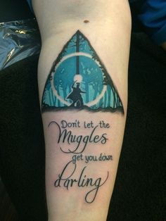 "This Patronus silhouette. | 42 Insane ""Harry Potter"" Tattoos Only Muggles Would Hate"