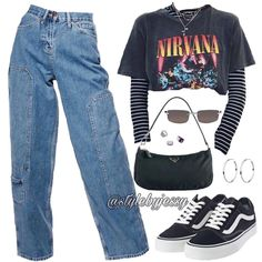 Back to school outfit Cute Casual Outfits, Mode Outfits, Retro Outfits, Grunge Outfits, Stylish Outfits, Vintage Outfits, Casual School Outfits, Lazy Day Outfits, Egirl Fashion