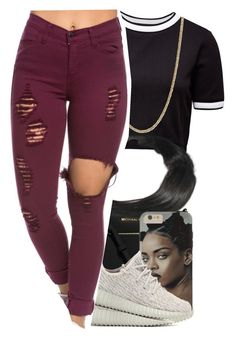 """""""once again"""" by original-menace ❤ liked on Polyvore featuring French Connection, MICHAEL Michael Kors, adidas Originals and Bloomingdale's"""